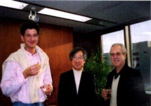 サロンセイワでの新井力夫氏とマイゼン先生