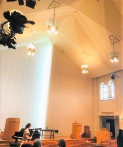 南太田の清水ヶ丘教会の中