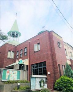 南太田の清水ヶ丘教会の風景